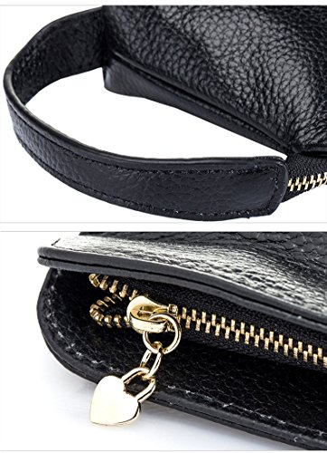 Clutch Leather Iphone Womens Wristlet Purse Note Small 6S S7 Bag Plus 7 Galaxy Aladin Handbag 5 Cute Black Phone Cell wqxPXgn5E