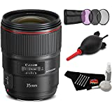Canon EF 35mm f/1.4L II USM Lens Accessory Bundle International Model
