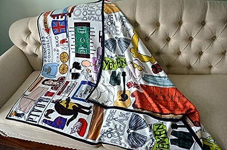 Zamtac New Friends tv Show Central perk hugsy Yellow Frame Soft Blanket dust Cover 120 150cm Size: 120 X 150 cm