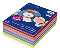Pacon Lightweight Construction Paper, 9-Inches by 12-Inches, Assorted Colors, 500 Count (6555)