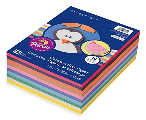Pacon Lightweight Construction Paper, 9-Inches by 12-Inches,