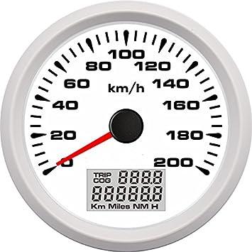 Eling - Velómetro GPS universal para coche, carreras, motocicletas, de 0 a 200 km/h: Amazon.es: Coche y moto