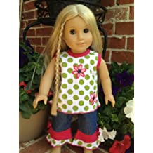 Spring Jean Set for 18 Inch Dolls Including the American Girl Line