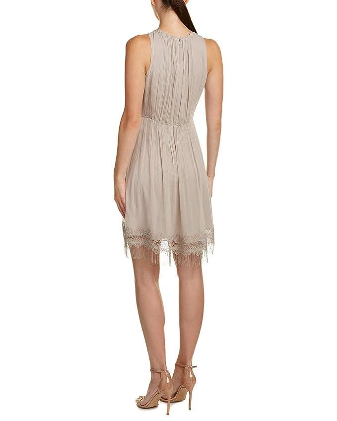 eb6cfedf52d68 Elie Tahari Womens Demetria Silk Crochet Trim Cocktail Dress Taupe 6 at  Amazon Women's Clothing store: