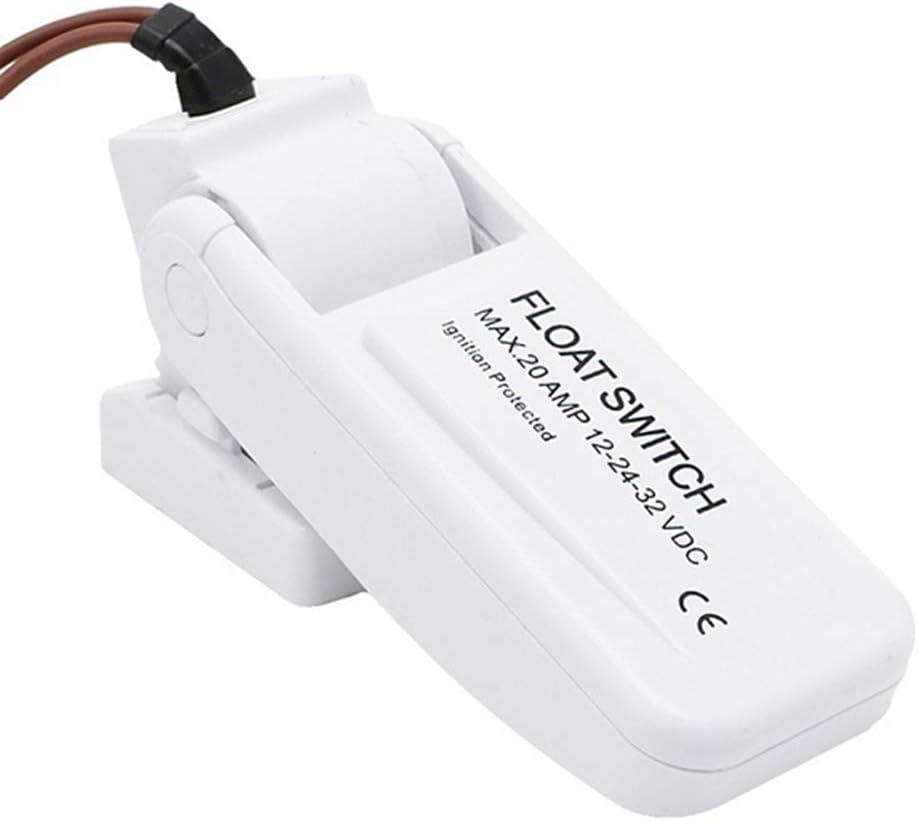 Carrfan 12 V 1100 GPH Automatico Pompa di sentina Interruttore Galleggiante Interruttore sentina Interruttore sensore di Flusso per Pompa dellAcqua elettrica