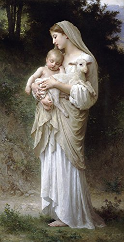 Bouguereau Canvas Art - L'Innocence (also known as Innocence) by William Bouguereau - 15