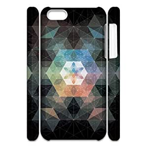 Customized Phone Case with Hard Shell Protection for Iphone 5C 3D case with Creative Geometric lxa#881968