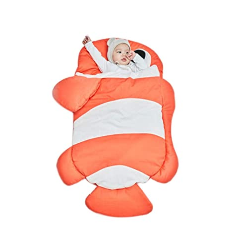 QueenHome Sacos de Bebe para Dormir Invierno Bebé de algodón de Invierno Bolsa de Dormir tiburón