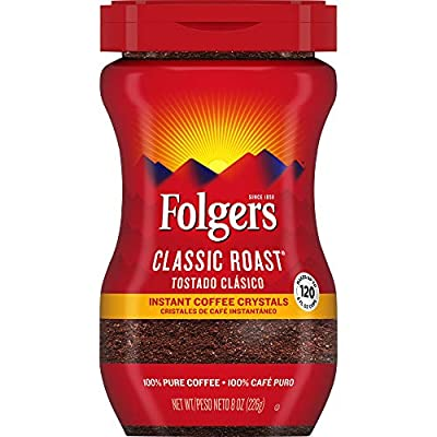 Folgers Instant Coffee Crystals, Classic Roast, 8 Ounces, Packaging May Vary from J.M. Smucker Company