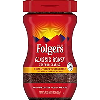 Folgers Classic Roast Instant Coffee Crystals, 8 Ounces