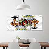 djidliyz8 King wall Stickers King of Clubs Playing Gambling Poker Card Game Leisure Theme without Frame Artworkdecorate stickers for wall Multicolor