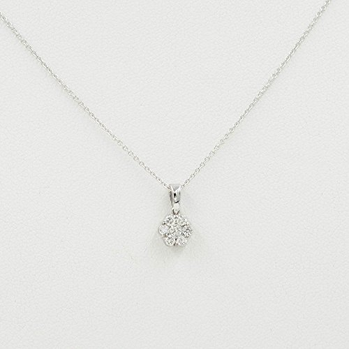Women's Natural Diamond Necklace/14k White, Yellow or Rose Gold Genuine Diamond Necklace/0.25ct Diamond Necklace/High Quality Diamond Pendant