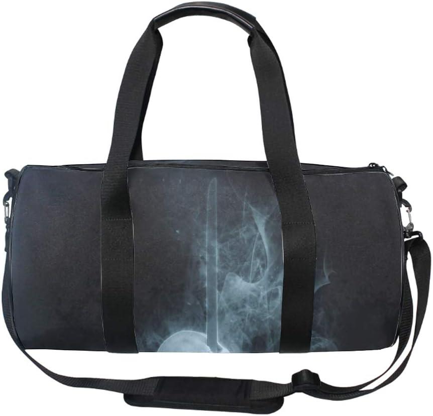 Skeleton Of Terror Gym Bag Sports Duffel Bag Barrel Holdall Bag For Travel Gym Sports Bag