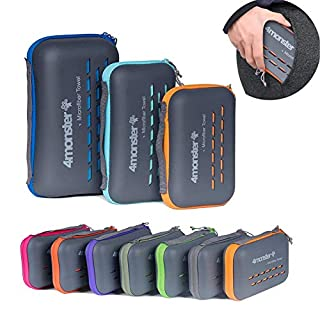 4Monster Camping Towels Super Absorbent, Fast Drying Microfiber Travel Towel, Ultra Soft Compact Gym Towel for Beach Hiking Yoga Travel Sports Backpack