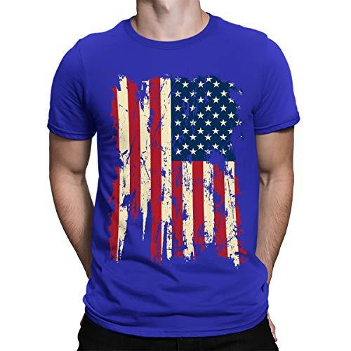 SpiritForged Apparel Vintage Distressed USA Flag Men