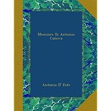 Memoire Di Antonio Canova