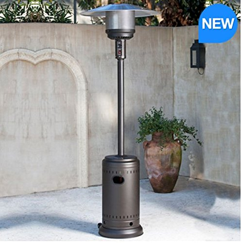 FireSense Gas Mocha 46000 BTU Commercial Patio Heater