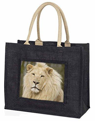 Advanta Gorgeous weiß Löwe Große Einkaufstasche/Weihnachtsgeschenk, Jute, schwarz, 42x 34,5x 2cm