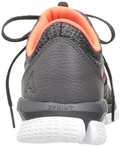 Reebok Femmes Zprint Sa Elle Mtm Chaussure De Course Cendres Gris / Charbon / Vitamine C / Blanc