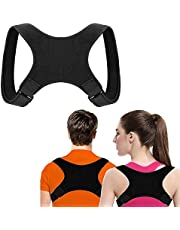 UBERMing Posture Corrector for Men and Women Adjustable Upper Back Brace and Providing Pain Relief Physical Therapy Posture Brace for Shoulder Clavicle Lumbar – Black