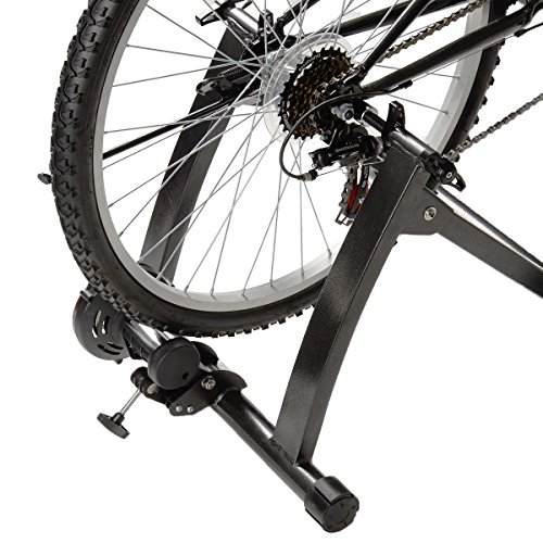 GHP Black Indoor Magnetic Resistance Bicycle Trainer Stand for 26''-28'' Wheel Sizes by Globe House Products (Image #2)