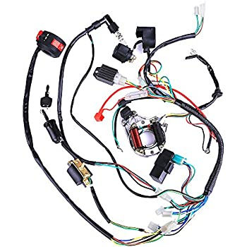 Amazon.com: Complete Electrics Coil CDI Wiring Harness ATV KLX ... on electric wiring diagram, loncin 110 wiring diagram, baja 90 atv wiring diagram, motor wiring diagram, kawasaki wiring diagram, quad wiring diagram, chinese wiring diagram, 49cc 2 stroke wiring diagram, scooter wiring diagram, ssr wiring diagram, eagle 100cc atv wiring diagram, yamaha 4 wheeler wiring diagram, x12 wiring diagram, honda wiring diagram, motorcycle wiring diagram, road wiring diagram, cdi wiring diagram, 125cc atv wiring diagram, 70cc wiring diagram, 47cc wiring diagram,