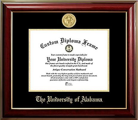 Amazon.com - University of Alabama 22K Gold Medallion Diploma Frame ...