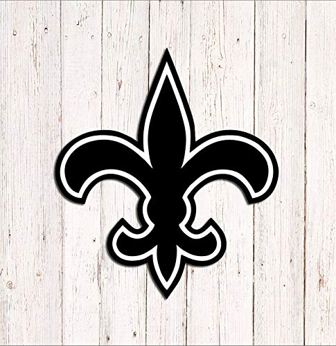 CELYCASY Fleur De Lis Symbol Decal, New Orleans Saints Decal, Vinyl Car Window Decal, Laptop Sticker, Yeti Tumbler Decal Sticker ()