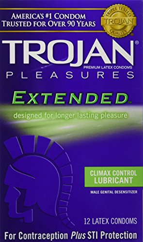 trojan-pleasures-extended-pleasure-lubricated-latex-condoms-12-ct-pack-of-1