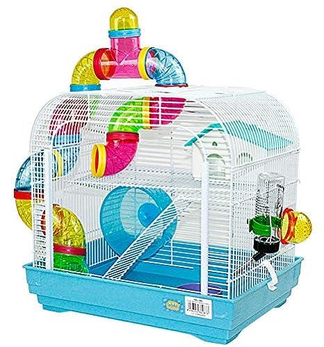 DZL Jaula para Hamster Medidas:29.5X29.5X38CM (Azaul): Amazon.es ...