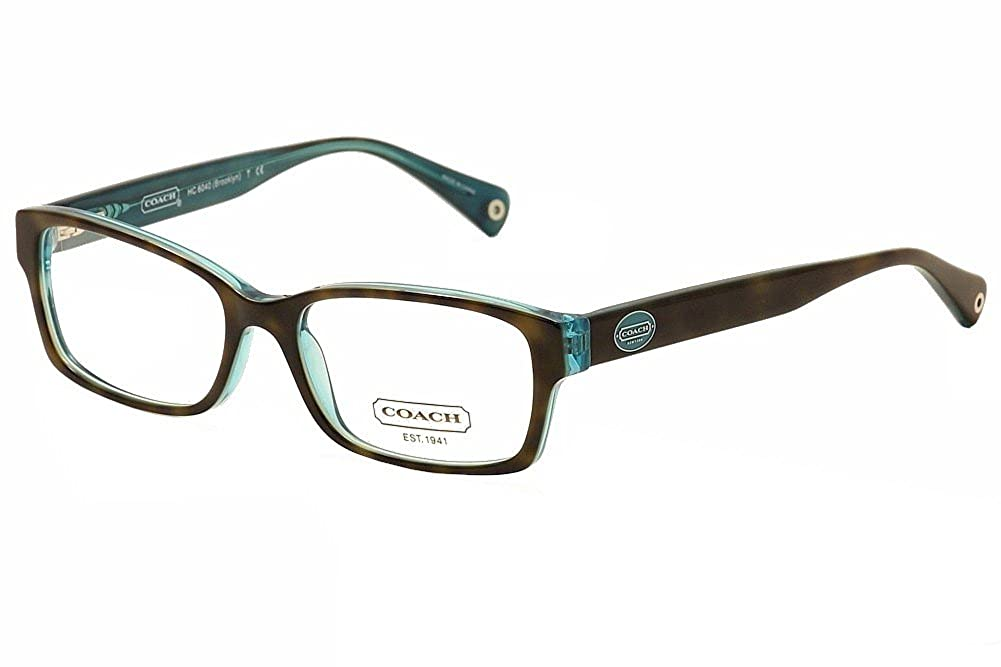 f8283dfc3a6 Coach HC6040 Brooklyn Eyeglasses 5116 Dark Tortoise Teal Demo Lens 50 16  135  Amazon.in  Clothing   Accessories