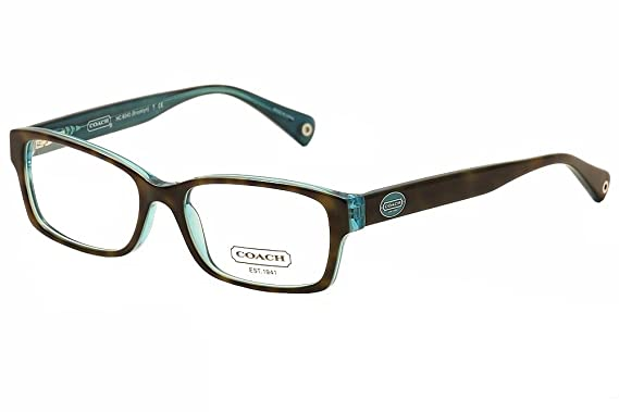 1b66131b6e1 Coach HC6040 Brooklyn Eyeglasses 5116 Dark Tortoise Teal Demo Lens 50 16 135