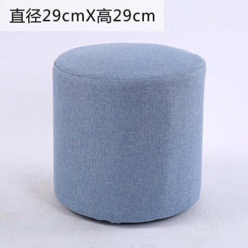 STJK$BMJW Wooden Bench Sofa Stool Stool Tea Table Stool Children'S Small Stool Cloth Art Stool Changing Shoes Stool. Blue (2929Cm)