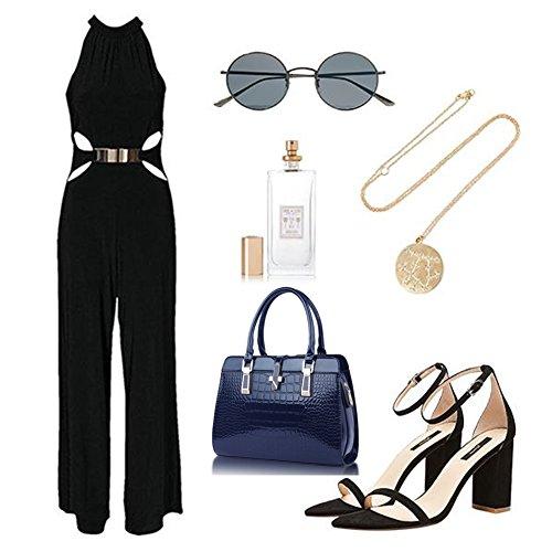 Yoome Borse New Chic Borse da viaggio Crossbody Top Borsa da polso Borsa Elegante per Women Weekender Bag - Navy