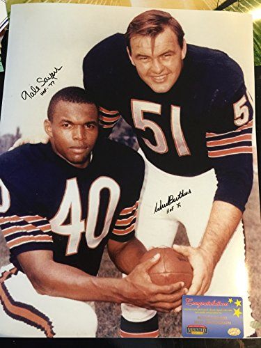Dick Butkus & Gale Sayers Chicago Bears Dual Signed Autographed 16x20 Photo Moutned (Dick Butkus Signed Photo)