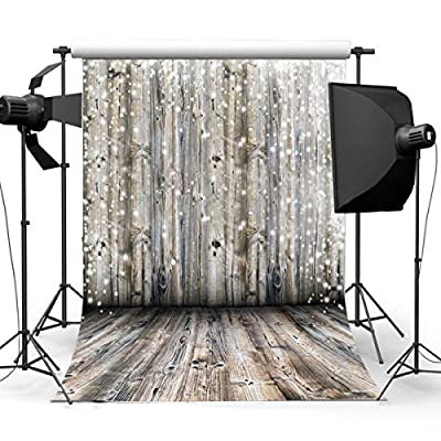 GradeAAAAA 100% Silk Less Crease New Fashion Romantic Snowing Dreamlike Wooden Theme Backdrop Photography Background for Children Party Scene Christmas Baby Kids Newborn personal Photo 3x5ft