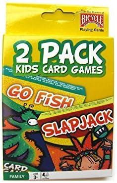 2 Pack Kids Card Games Go Fish & Slap Jack by Bicycle: Amazon.es: Juguetes y juegos