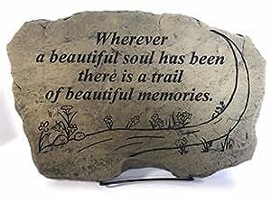 Kay Berry donde una hermosa alma ha sido hay un rastro de hermosos recuerdos comodidad piedra simpatía; De regalo 10x 15oww; Con Soporte