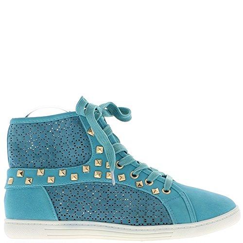Sneakers donna aperto blu Sneakers alti