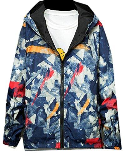 Camouflage 1 Zip Baseball Up Gocgt Bomber Hood Jacket Mens xvvBZ