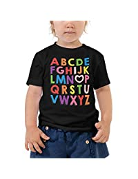 BOXELS I Love U (You) Alphabet Letters ABC Toddler Short Sleeve Tee