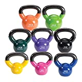 Body-Solid Vinyl Coated Kettle Bell Set, 125 lbs