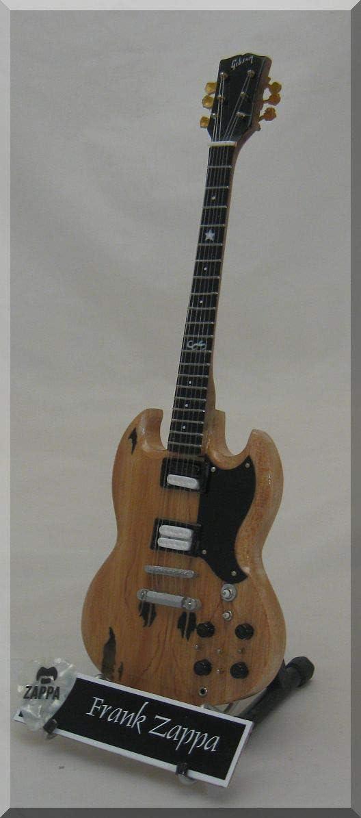 FRANK ZAPPA Guitarra miniatura con púa de guitarra