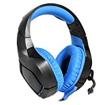 Gaming Headset, Clear & Shocking Computer Gamer Over Noise Cancelling Ear Headphones with Microphone