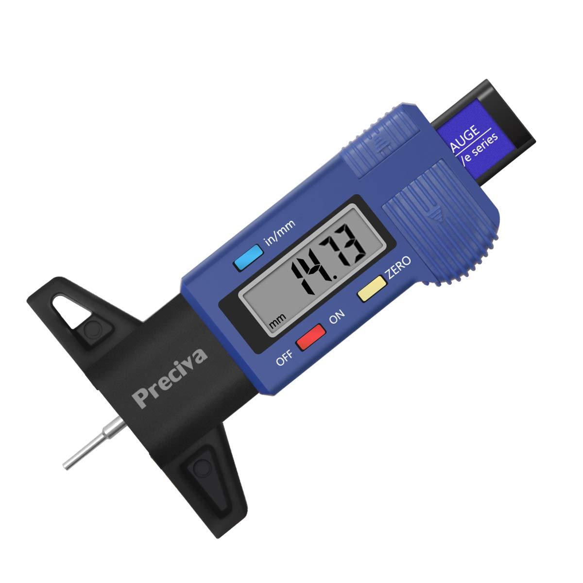 Digital Car Tire Tread Depth Tester 0-25mm Tyre Tread Depth Gauge Meter Measurer Tool Caliper LCD Display Tire Measurement