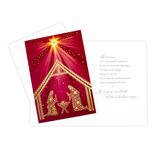 Hallmark Religious Christmas Boxed Cards (Nativity Scene, 16 Christmas Greeting Cards and 17 Envelopes) Photo #5