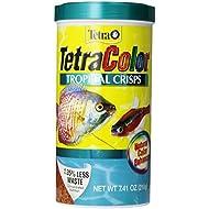 TetraColor Tropical Crisps with Natural Color Enhancer, 7.41-Ounce