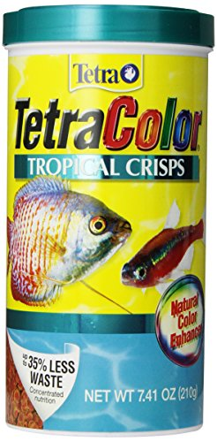 TetraColor Tropical Crisps Fish Food, 7.41 Ounces, With Natural Color Enhancer ()