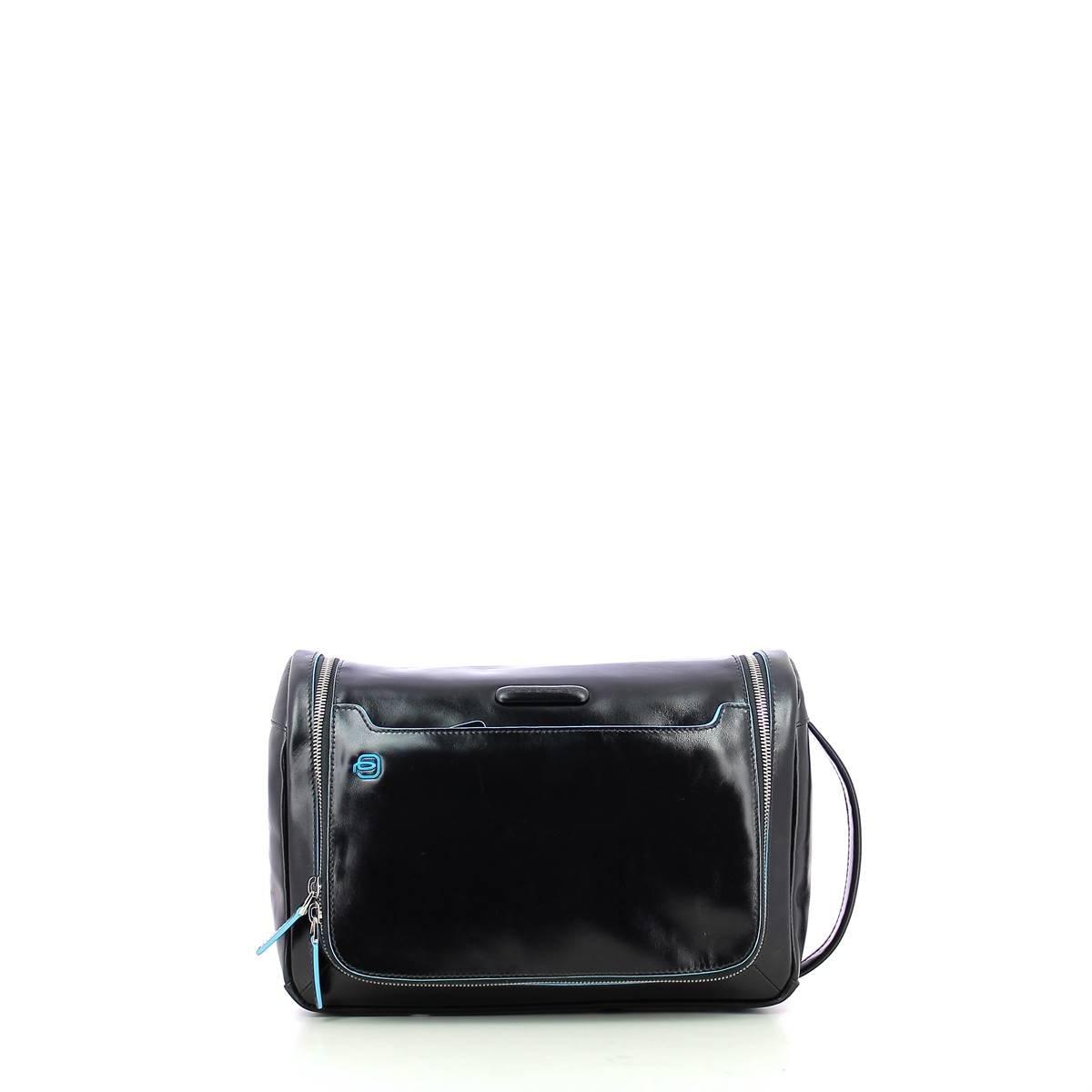 Piquadro Move 2 Beauty Case da Viaggio, Pelle, Blu, 30 cm BY3853B2/BLU2