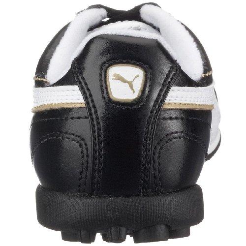 Puma Esito XL TT Jr 101608 01, Unisex - Kinder Sportschuhe - Fußball Schwarz (Black-White-Teamgold01)